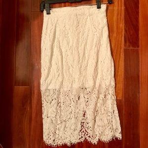Lulu's lace skirt