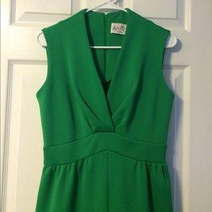 Long green vintage dress