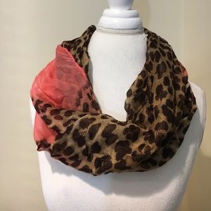 New Leopard Print Infinity Scarf. Perfect for fall