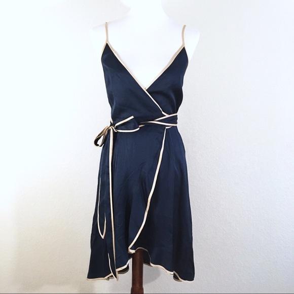 Marciano Dresses Ajah Silky Wrap Dress Blue With Bow Poshmark