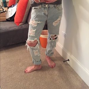 One Teaspoon Boyfriend Ripped Jeans