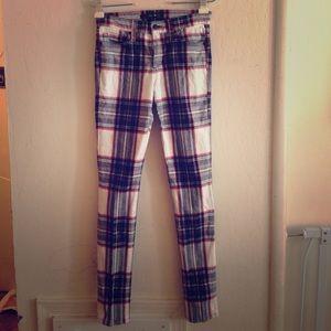 Joe's Plaid Skinny Jeans