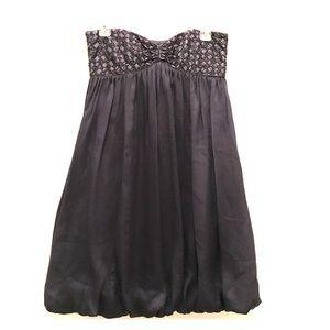 Laundry by Shelli Segal Navy Silk Strapless Dress
