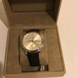 Men's BU10008 Check Stamped Round Dial Watch, 40mm