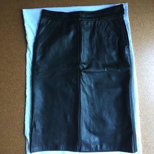 Dresses & Skirts - Excellent Vintage Leather Pencil Skirt Sz 2-4