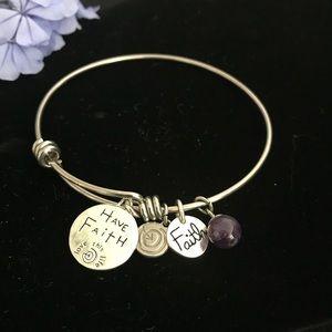 "Inspirational Bracelet ""Love This Life"" FAITH"