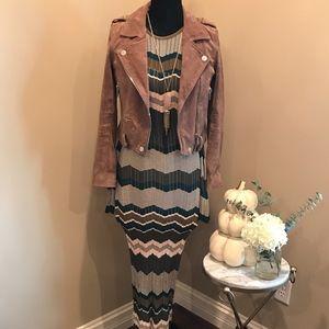 TORN BY RONNY KOBO Sweater Maxi Dress