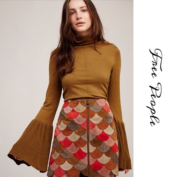 598652e4b1 Free People Dresses & Skirts - 🎀FREE PEOPLE MIDNIGHT RIDER SUEDE SKIRT🎀