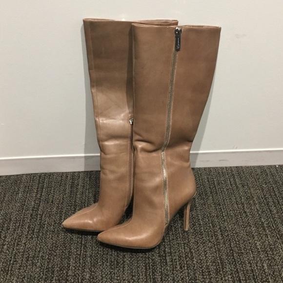 5536f1db182 Jessica Simpson Capitani Beige Leather Tall Boots