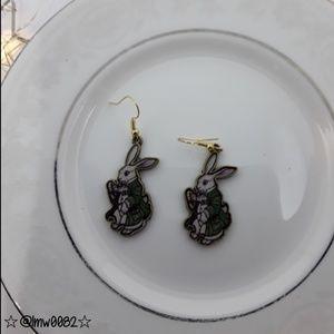 Jewelry - Alice's White Rabbit Earrings