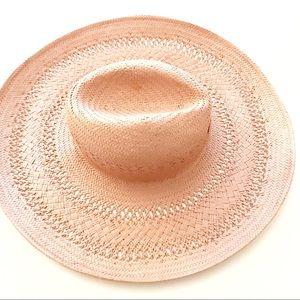 BCBGMaxazria pink western woven hat
