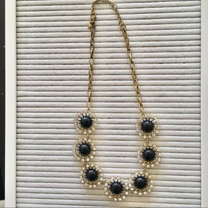 J. Crew Starburst black Statement necklace