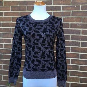 H&M Kitty Cat Sweater, Lurex Thread, Sm/6