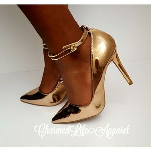 Metallic Rose Gold Heels