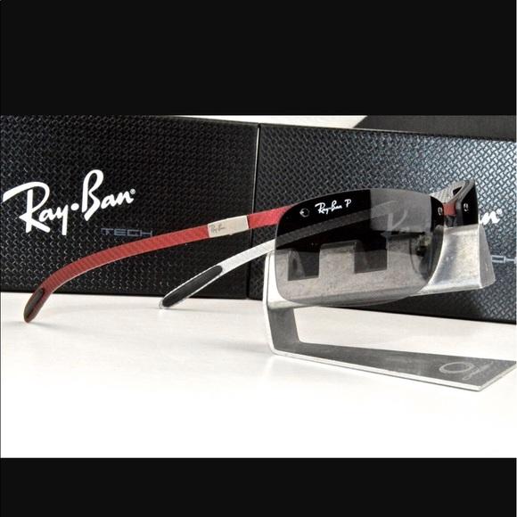 7de040661f Ray-Ban Carbon Fibre Polarized Sunglasses. M 59e4fa38a88e7d18880ccd44