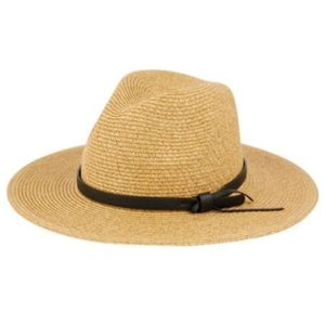 Accessories - Panama Hat With Leather Brim Detail