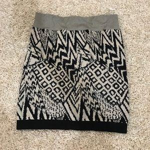 Graphic print mini skirt