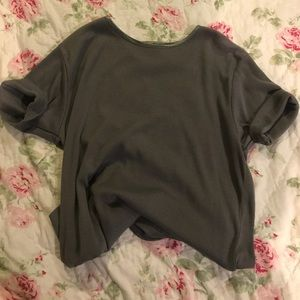 vintage • plain grey shirt