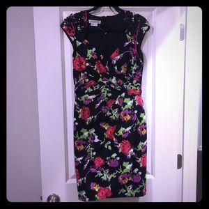 Kay Unger Floral Dress