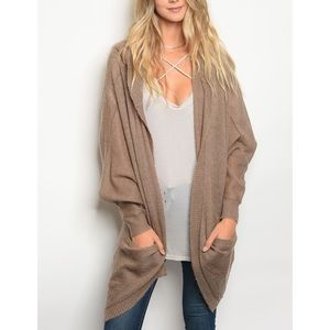 | KNIT HOODED CARDIGAN |