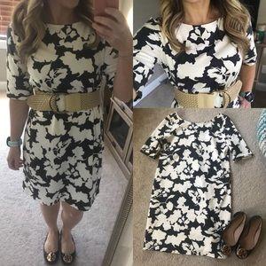 NWT j.jill floral stretch shift t shirt dress