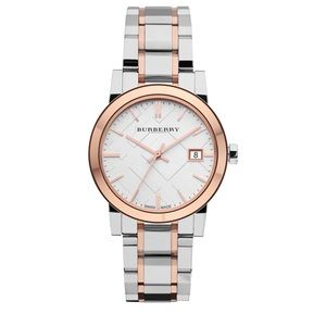 Burberry Medium Check Stamped Bracelet Watch, 34mm
