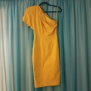 Asos Yellow one sleeve dress