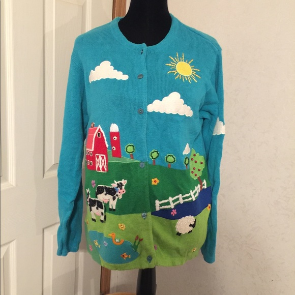 The Quacker factory Farm Sweater Size Medium