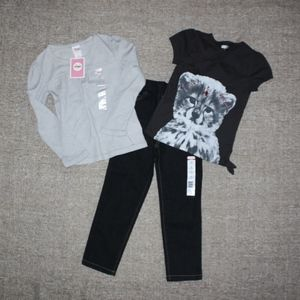 NEW! GIRLS (3) PIECE STYLED CLOTHING LOT!