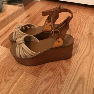ISABEL MARANT wooden flat forms size 35