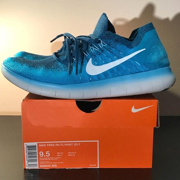 346feae2d0a67 Nike Free Run FLYKNIT 2017 Blue Lagoon