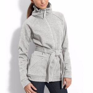 North Face AVERY Heathered Gray Belted Jacket