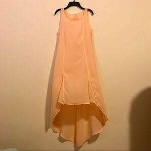 BCBGeneration Size S Peach High Low Dress