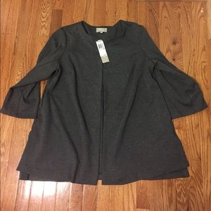 NWT Nordstrom Joan Vass Woman gray soft blazer 1X