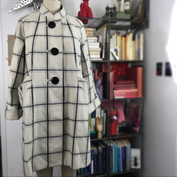 French Connection Jackets & Blazers - French Connection Mod Plaid Jacket Coat