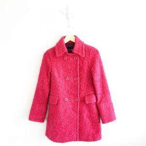 Zara Hot Pink Mohair Long Winter Jacket