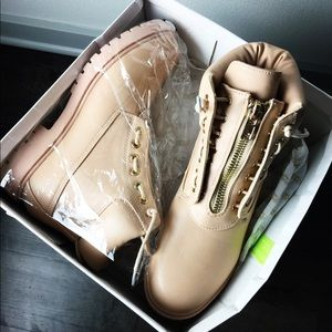 Nude Zip Up Boots