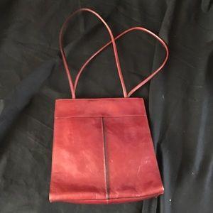 Wilson Leathers Dark Red Tote Purse Bag Career