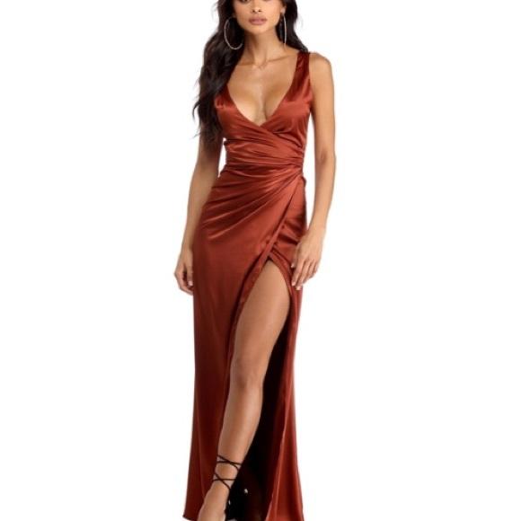 be4d046e5d813 Windsor Dresses | Satin Formal Dress | Poshmark