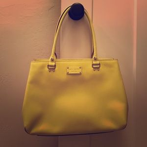 "Kate Spade ""Elena Wellesley"" bag in citronella"
