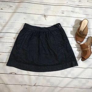 J.Crew denim indigo skirt, size 4