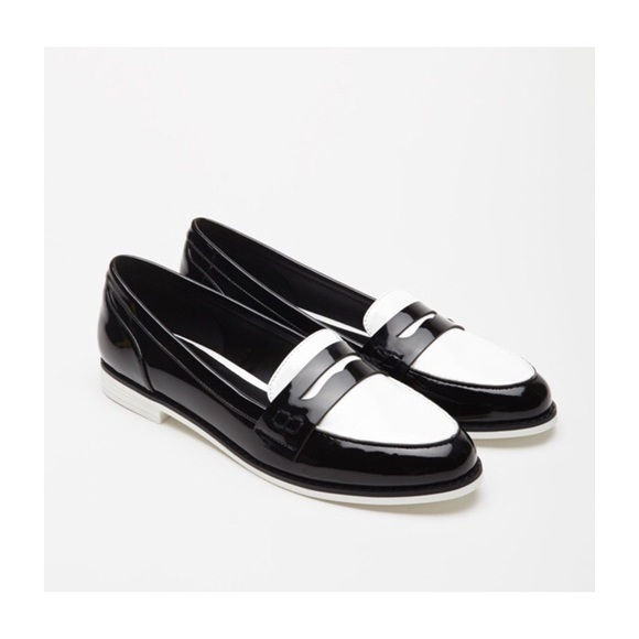 White Faux Penny Loafers | Poshmark
