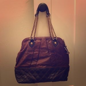 Marc Jacobs double chain two tone leather bag