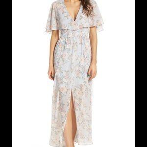 Clearance❗️NWOT Floral Flutter Sleeve Maxi Dress