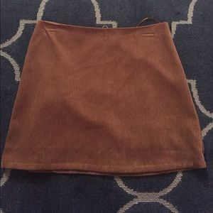NWT Tan suede skirt