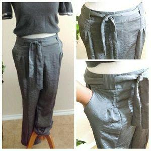 Lane Bryant Pants - Silky Plus Size Dark Gray Pants (Fits 16-18)