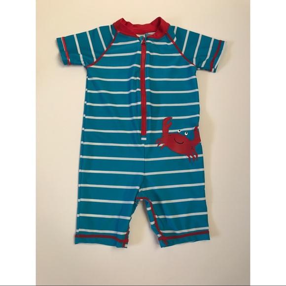 3d6c5f51ec Carter's Swim | Carters Baby Boy 1piece Crab Surf Suit Bluered ...