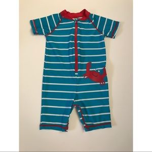 Carter's Baby Boy 1-Piece Crab Surf Suit Blue/Red