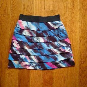 GUESS Blue Ruffle Skirt
