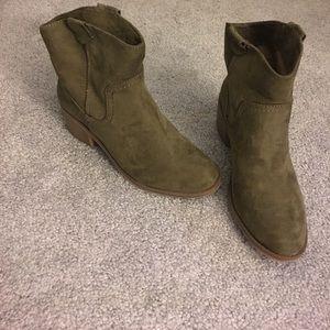 Merona Army Green Booties